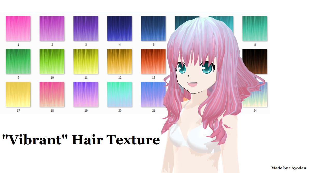 MMD : 'Vibrant' Hair Texture by Ayodan