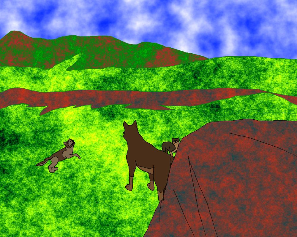 Aleu, nuka and puppy by BahatiUpendo