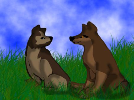 Aleu and Nuka cubs by BahatiUpendo