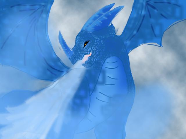 ice dragon by BahatiUpendo