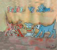 Freddycat vs Jasoncat by BahatiUpendo