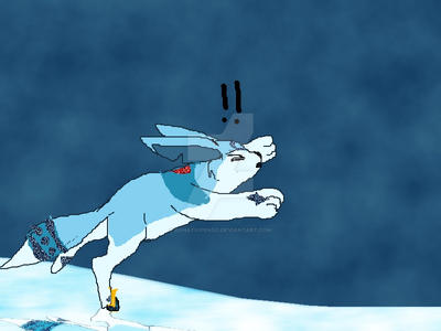 stumbling on ice by BahatiUpendo