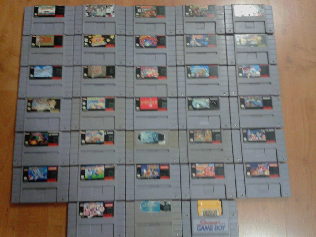 My SNES Collection by mariobros123