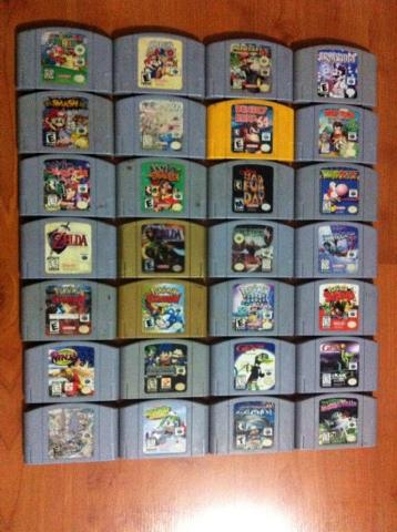 My N64 collection by mariobros123