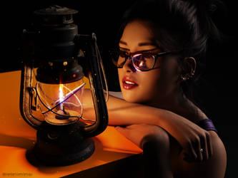 Kate with lantern by Zincau
