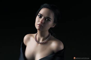 Girl with a Pearl Necklace by Zincau