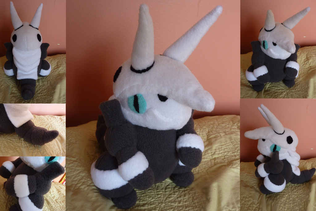 Aggron Plush commission by Plush-Lore