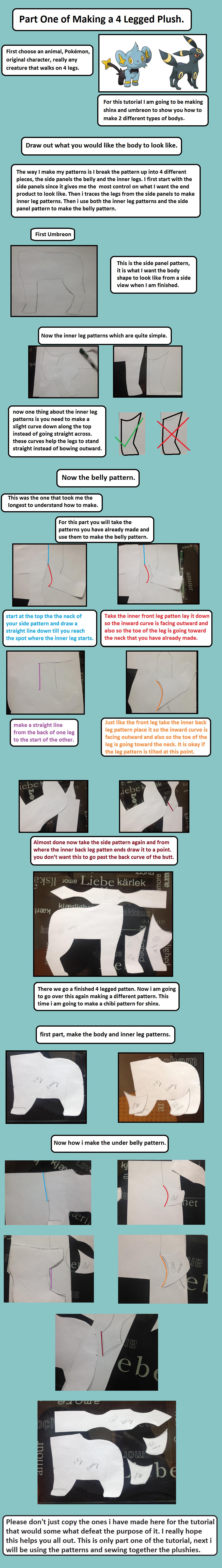 4 legged plush tutorial