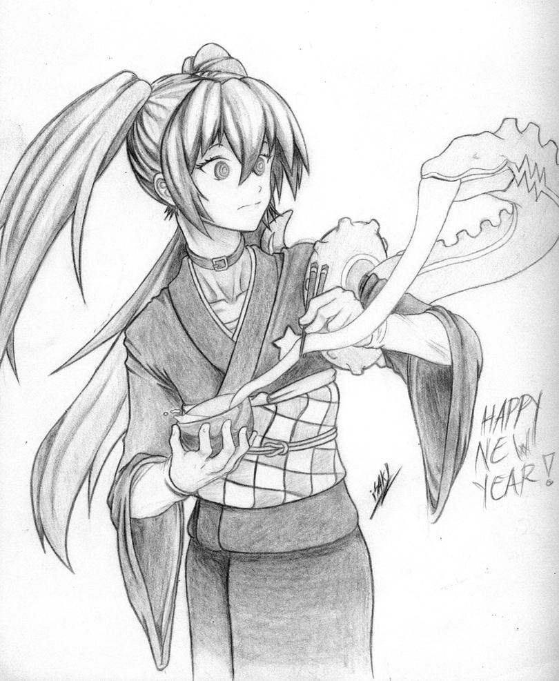 Anime New Year Drawings 2019 New Year Images