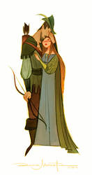 Robin Hood and Lady Marian