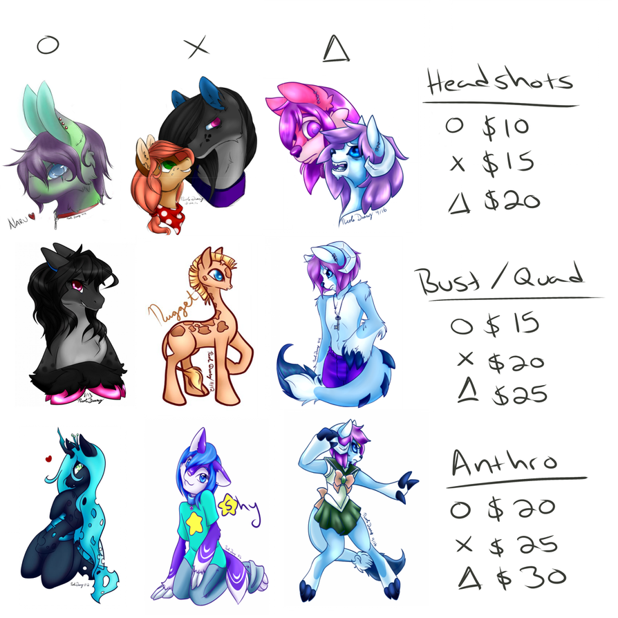 (Emergency) Commissions Price List by Puppet-Runo