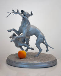 3D Print - Sculpture of dogs by Hal8998
