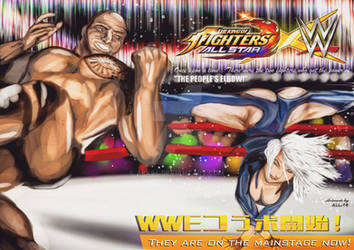 The Rock vs Angel(KOF ALLSTAR X WWE COLLABORATION) by abk94