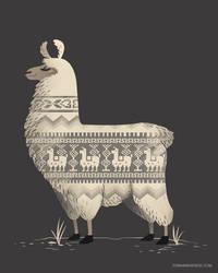 Llamas make the best sweaters by FernandaFrick
