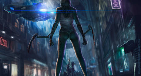 Cyberpunk 2077 fan art by Txusjfuentes