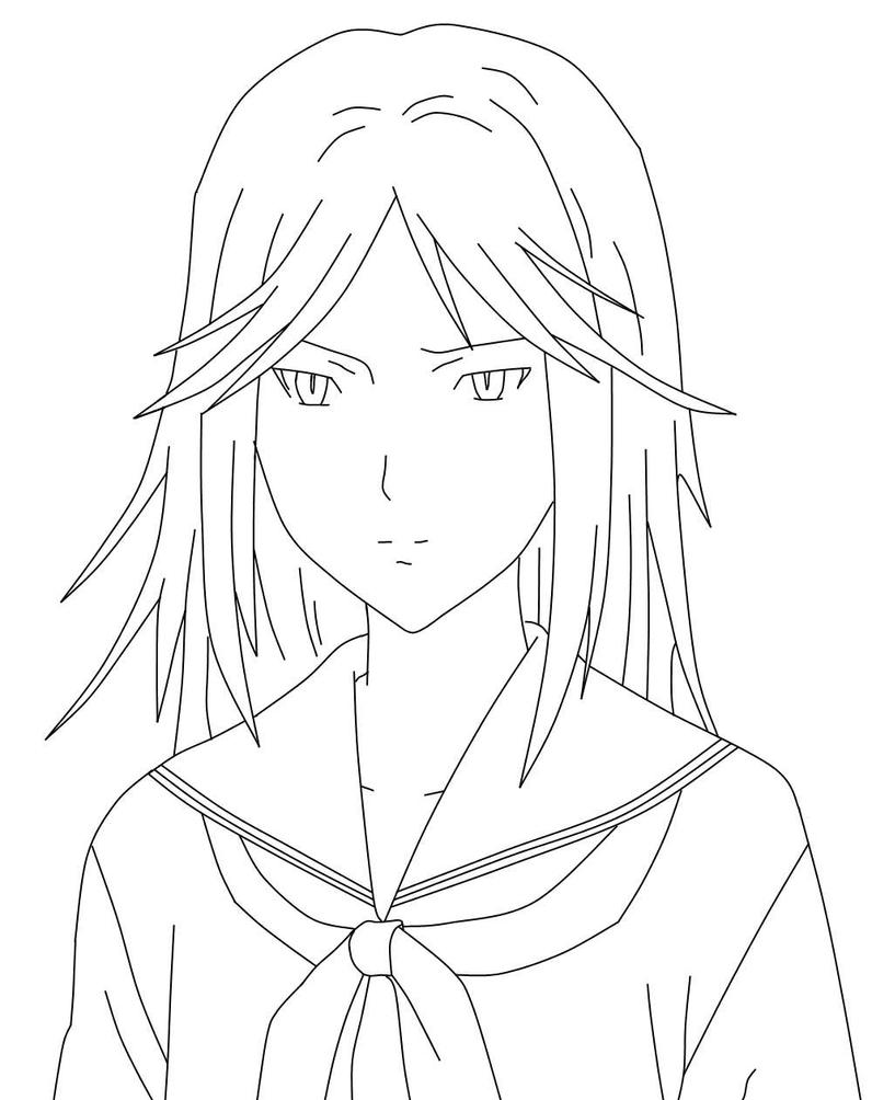 Anime girl (cat style) :) ver.no color by xanloz on DeviantArt