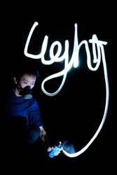 Lightpainting underway by Fuzzy-Ozzy