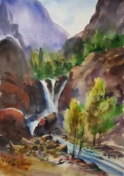 waterfall by bkiani