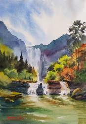 waterfall 2 by bkiani