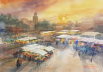 Jamaa el Fna market Square by bkiani