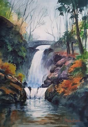 Aira Force Waterfall, Ullswater by bkiani