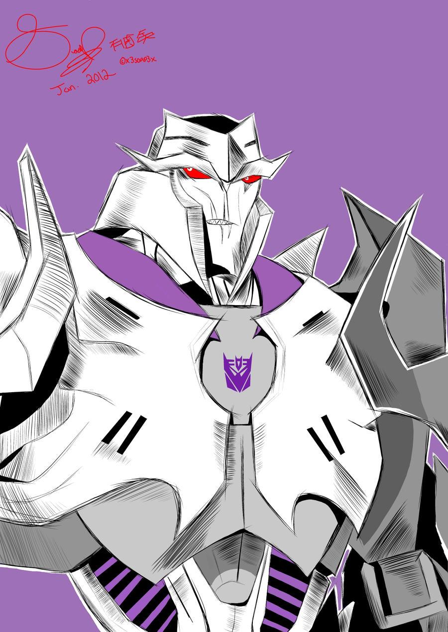 transformers prime megatron by x3soap3x fan art digital art drawings