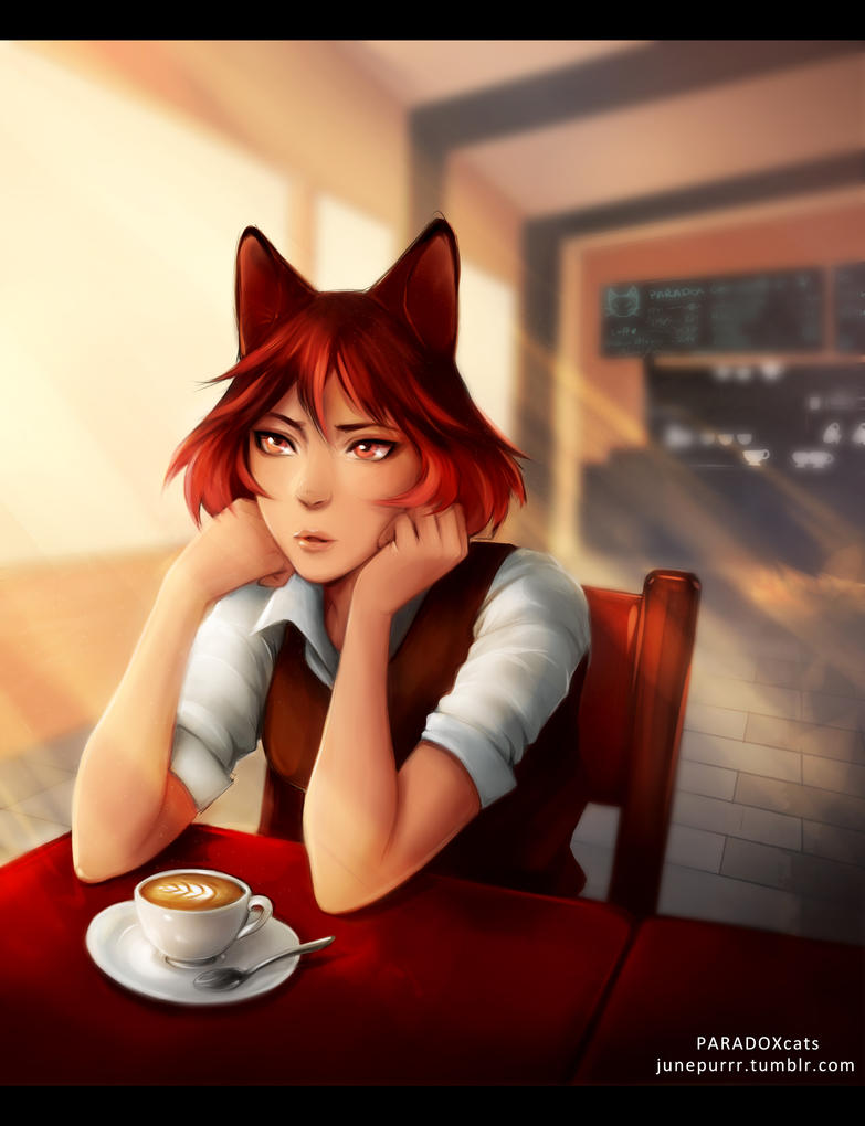 Cafe Cat by ToniK9