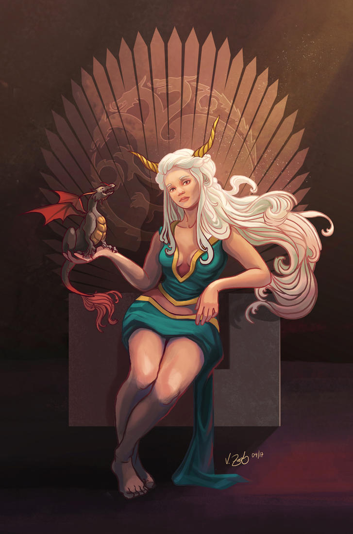 Khaleesi - Game of Thrones Fan Art by Vantasy