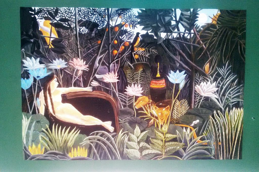 Rousseau the dream handpainted on wood by carteriartanddeco on deviantart - The hideout in the woods an artists dream ...