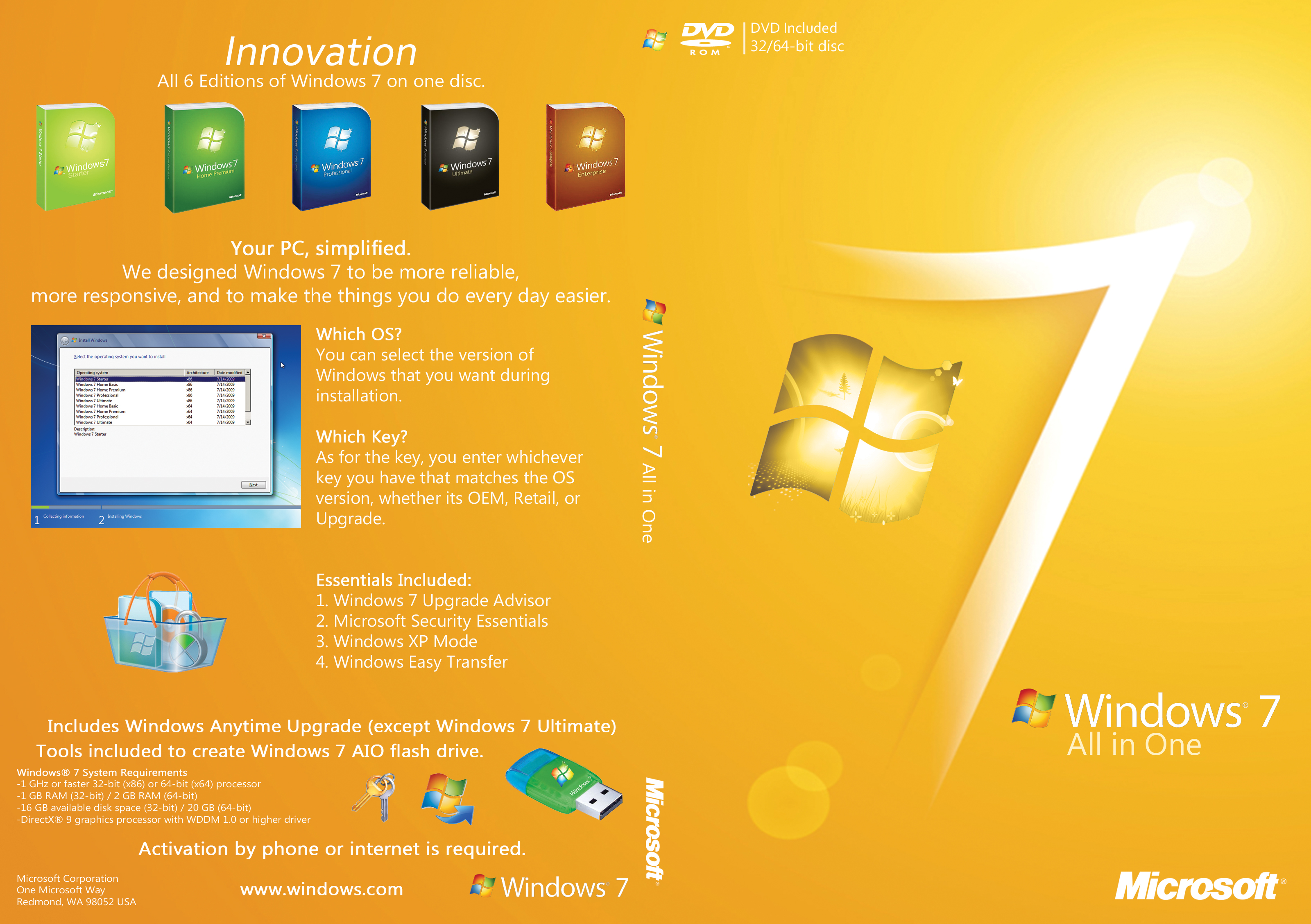 Windows7 ULTIMATE SP1 ALL EDITIONS 32-64 bit ~ UTILITY HUB