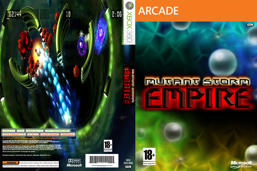 COVER - MUTANT STORM EMPIRE -XBLA - JTAG/RGH XBOX by