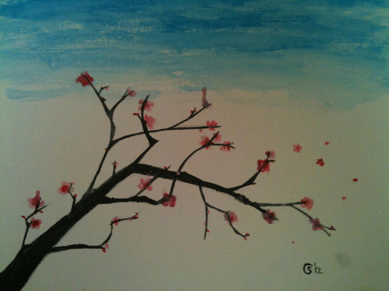Water color Cherry Blossom