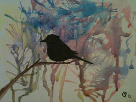 Sparrow in Watercolor