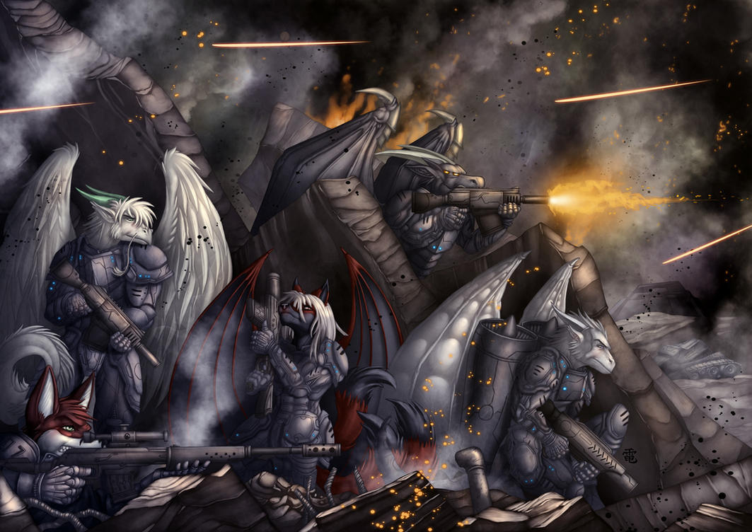 Inside in one Warzone by StriderDen by AkelaLycan