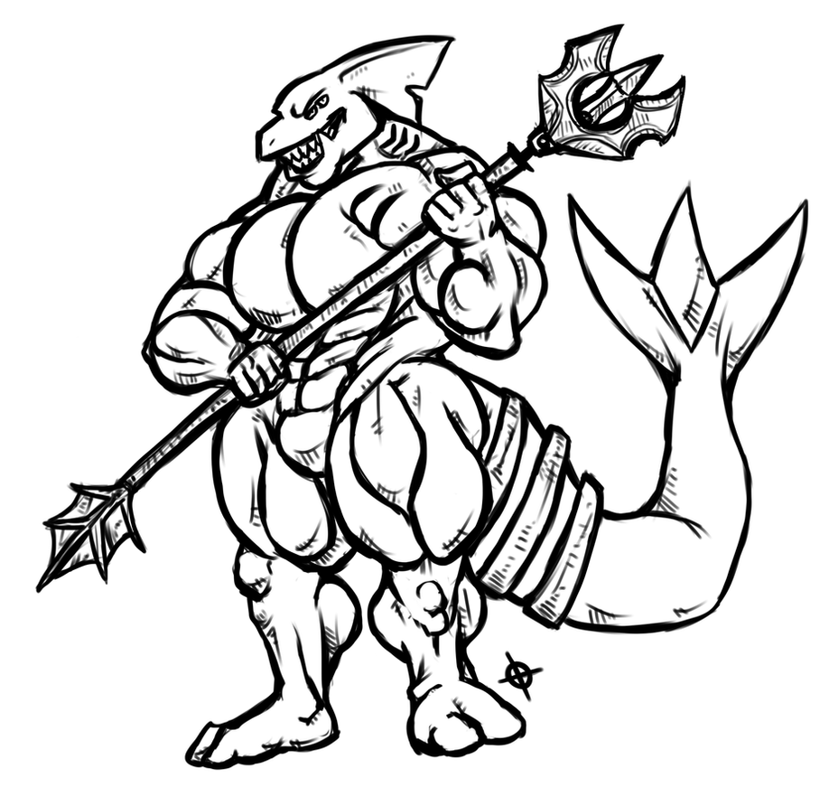 Shark hybrid drawing - photo#25