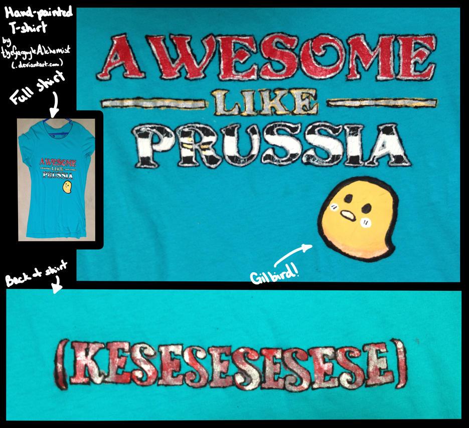 Prussian Awesomeness T-shirt by TheGargoyleAlchemist