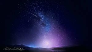 Night sky by AloneInDreamland