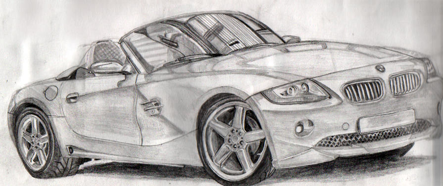 Bmw Z4 Sketch By Simongibson On Deviantart