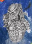 Halfdrawn sketch of Predator
