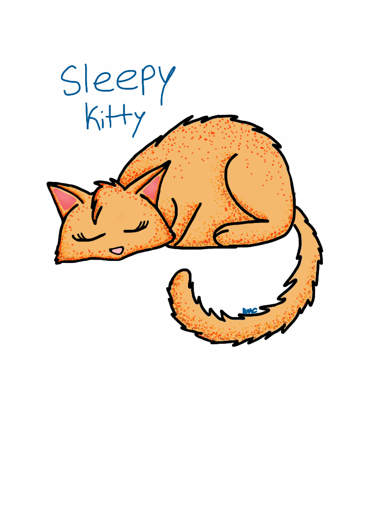 Sleepy kitty by ArtsyCat123