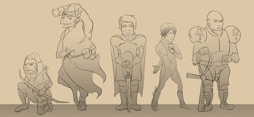 The Sword Guys (Concept) by ErikHolfelderArt