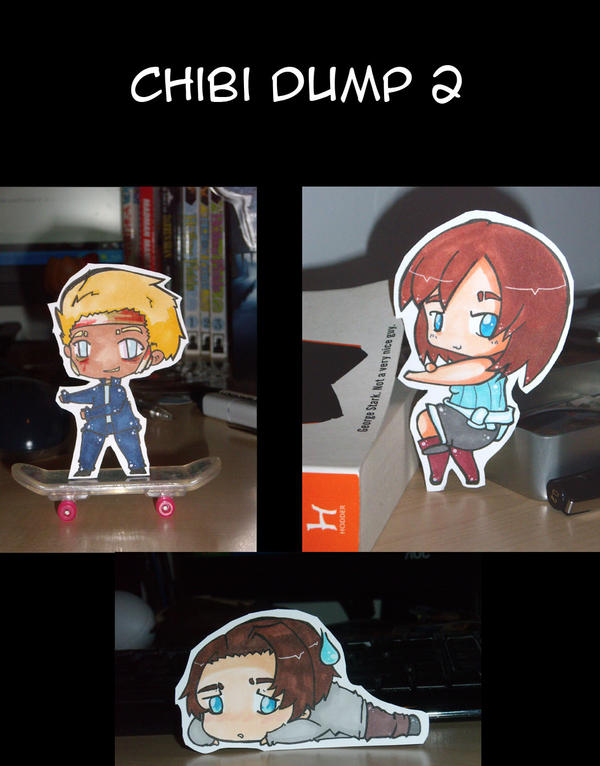 Chibi dump 2: Paper children by Sunchildkate