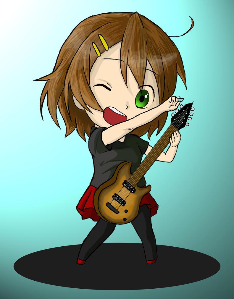 Chibi guitar girl by ViolentDemise92
