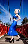 Blue fashionista
