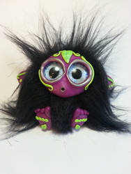 Vee - Polymer Clay  Faux Fur Troll by Orang3Marmalade