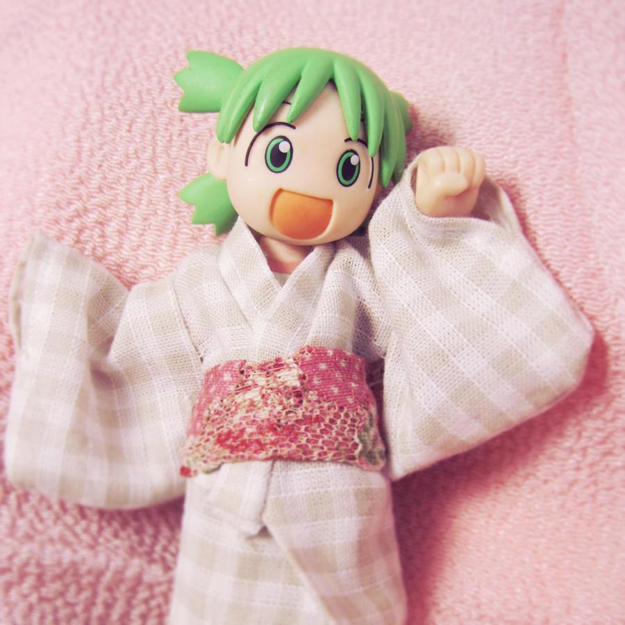 Yukata for Yotsuba by polkadotbeetle