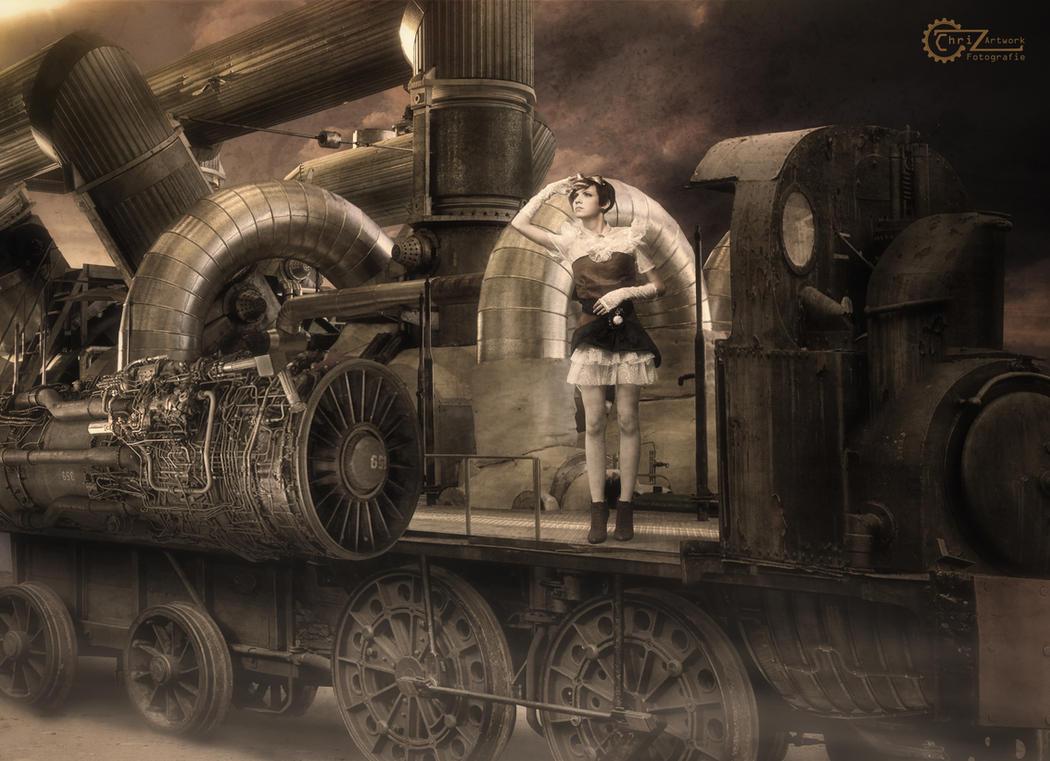 steampunk locomotive by drag rider on deviantart. Black Bedroom Furniture Sets. Home Design Ideas