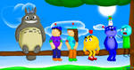 Everyone and Totoro by RobloxFan75000