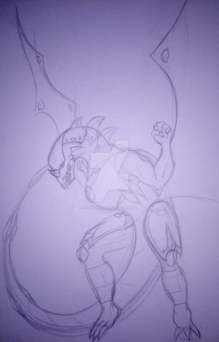 Darkus Dragonoid by NightFurion