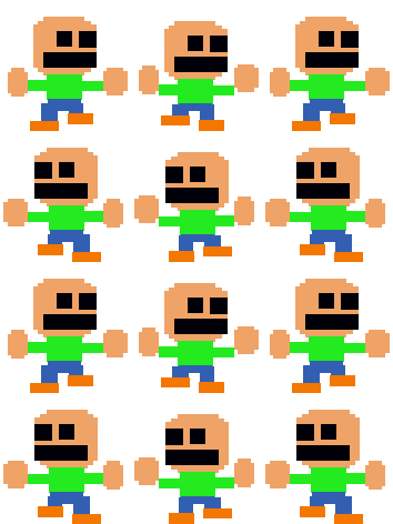 FNAF Mini Game Child - RPG Maker VX Sprite Sheet by Creepypasta81691